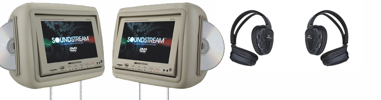 Soundstream Dual Headrest with Dual DVD System