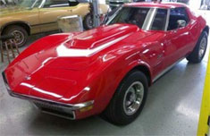 Corvette in Garage, Car audio installation