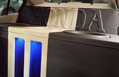 Honda custom box, car audio installation