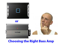 Choosing a car bass amplifier