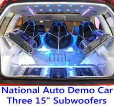Choosing a car bass amplifier, JBL Demo Car