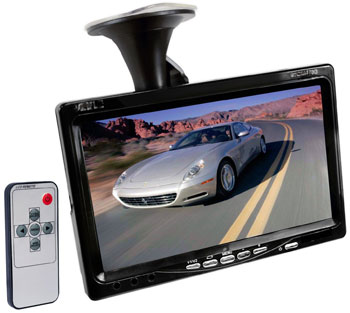 Video Monitor with Windshield Mount