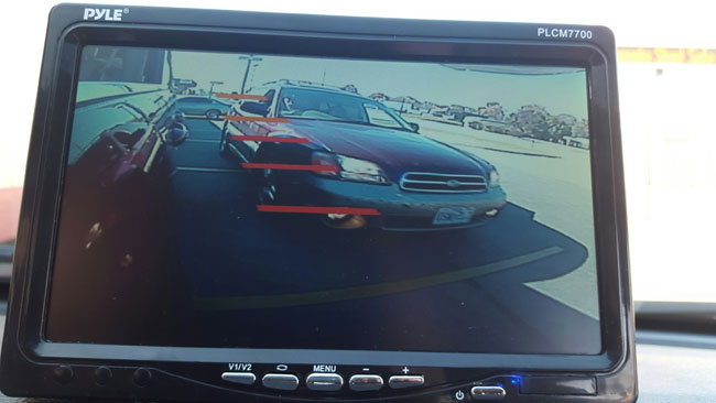 Blind spot camera traffic view