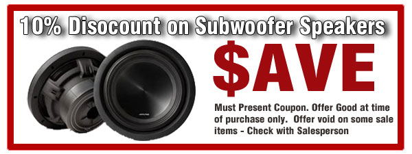 Subwoofer 10% Off Coupon