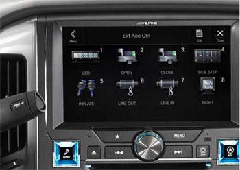 Alpine X110 Command Center Screen