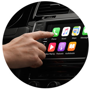 Apple Car Play Screen View Round