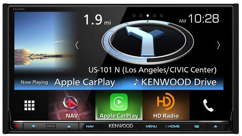 Kenwood eXcelon DNX893S with Car Play